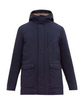 Technical Feather Filled Hooded Jacket by Herno