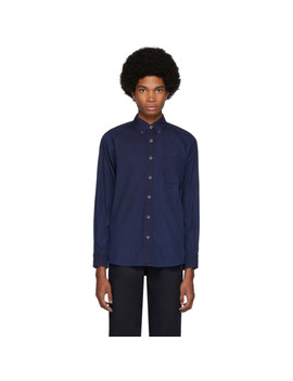 Indigo Cotton Oxford Hand Dyed Shirt by Blue Blue Japan