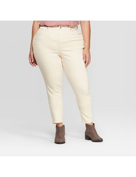 Women's Plus Size High Rise Skinny Jeans   Universal Thread™ White by Universal Thread