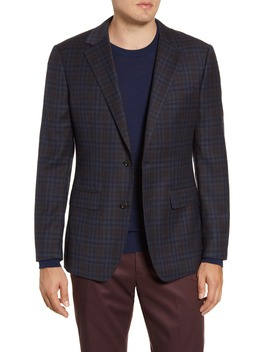 Jetsetter Slim Fit Stretch Plaid Wool Sport Coat by Bonobos