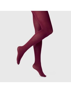 Women's 50 D Opaque Tights   A New Day™ Burgundy by A New Day