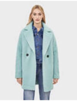 Faux Shearling Oversize Coat by Bershka