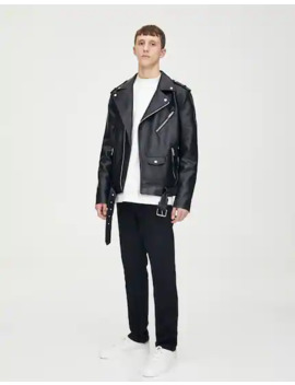Basic Faux Leather Biker Jacket by Pull & Bear