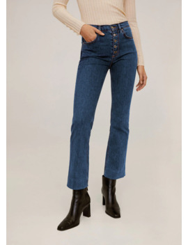 Jeans Flare Botones by Mango