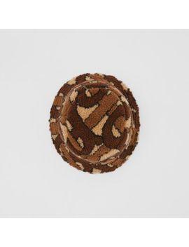 Monogram Fleece Bucket Hat by Burberry