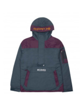 Columbia Challenger Pullover Jacket Night Shadow / Black Cherry by 5 Pointz