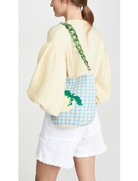 Lemon Midi Bucket Bag by Soraya Hennessy