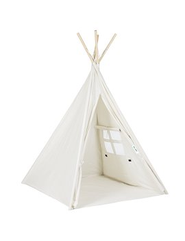 Funkatron Indoor Indian Playhouse Toy Teepee Play Tent For Kids With Carry Case, White by Funkatron