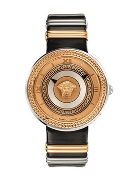 Two Tone V Metal Icon Watch by Versace