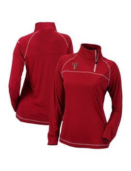 Texas Tech Red Raiders Columbia Women's Classic Quarter Zip Pullover Jacket   Red by Columbia