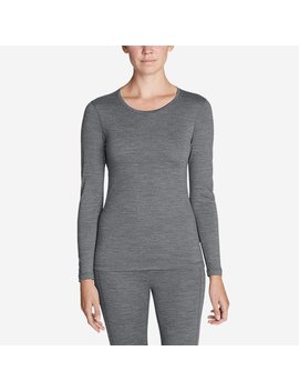 Midweight Free Dry® Merino Hybrid Baselayer Long Sleeve Crew by Eddie Bauer