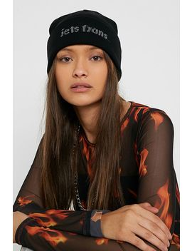 Iets Frans... Reflective Logo Beanie by Iets Frans...