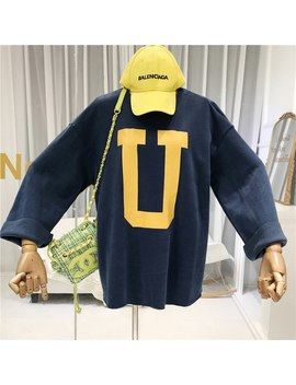 Korean Fashion Womens Hoodies Pullover Streetwear Loose Cotton Letter Harajuku Sweatshirt Women 2019 Fall Autumn Clothing by Ali Express.Com