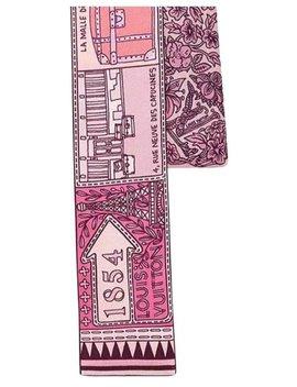 Pink & Liliac Narrow Silk Scarf/Wrap by Louis Vuitton