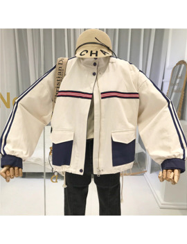 Fall Jacket Women Stand Neck 2019 Pockets Womens Jackets And Coats Loose Japanese Streetwear Women's Demi Season Jackets by Ali Express.Com