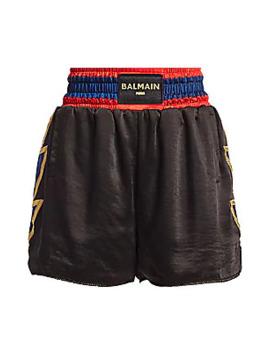 Puma X Balmain Satin Boxing Shorts by Puma X Balmain