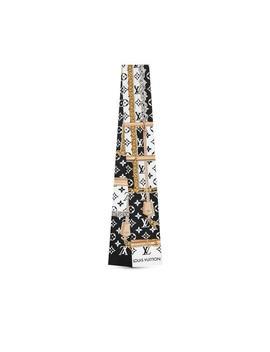 Multicolor Black Silk Lv Monogram Confidential Bandeau Scarf/Wrap by Louis Vuitton