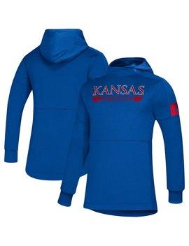 Kansas Jayhawks Adidas Sideline Game Mode Pullover Hoodie   Royal by Adidas