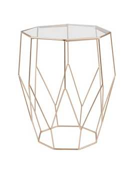 Metal Wire And Glass Side Table    Jaya by Maisons Du Monde
