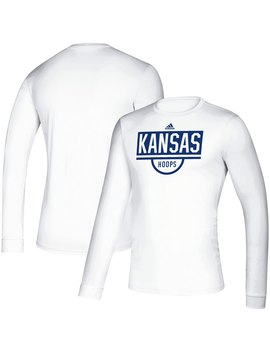 Kansas Jayhawks Adidas Hoops Practice Creator Climalite Long Sleeve T Shirt   Royal by Adidas