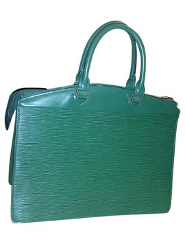 Riviera Business Green Epi Laptop Bag by Louis Vuitton