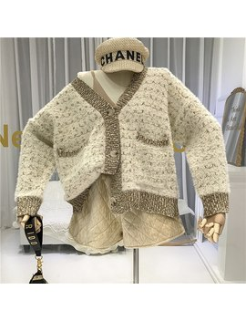 Vintage Womens Sweater Ladies Winter Knitted Single Breasted Women's Knitted Cardigans Women Tops Winter 2019 New Warm by Ali Express.Com