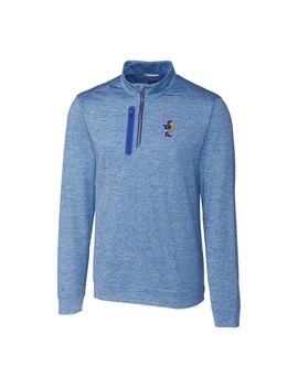 Kansas Jayhawks Cutter & Buck Stealth Vault Logo 1/2 Zip Jacket   Blue by Cutter & Buck