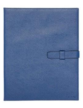Ipad Case Navy Saffiano Leather Laptop Bag by Prada