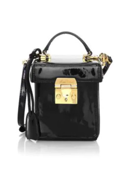 Grace Cube Patent Leather Crossbody Bag by Mark Cross