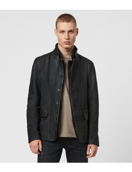 Gasper Leather Blazer by Allsaints