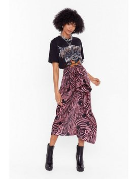 I Don't Care What You Herd Zebra Midi Skirt by Nasty Gal