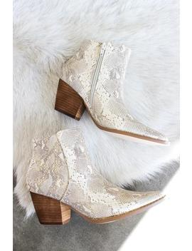 Matisse Astoria Boots In Natural Snakeskin by American Threads