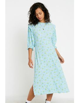 Faithfull The Brand Jean Marie Puff Sleeve Midi Dress by Faithfull The Brand