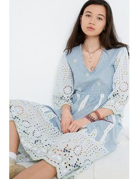 Cooperative Premium Broderie Midi Dress by Urban Outfitters