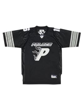 Palace Flaming P American Football Jersey Black by Stock X