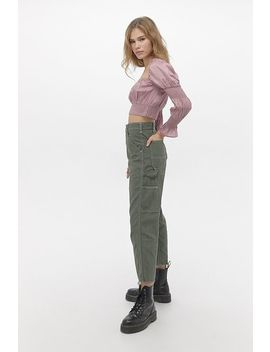 Urban Renewal Salvaged Deadstock Stan Ray Khaki Cargo Trousers by Urban Renewal
