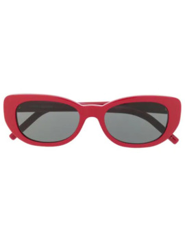Sl316 Betty Solbriller Med Rundt Stel by Saint Laurent Eyewear