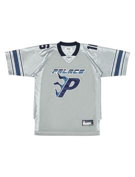 Palace Flaming P American Football Jersey Grey by Stock X