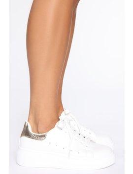 Lace Me Up Sneakers   White by Fashion Nova