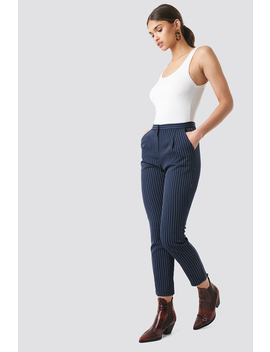 Pinstriped Suit Pants Blau by Nakdclassic