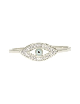 Evil Eye Pavé Ring by Ragen Jewels