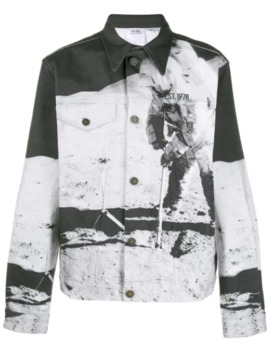 Graphic Print Denim Jacket by Calvin Klein Jeans Est. 1978