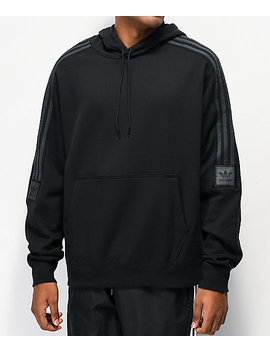Adidas Tech Black Hoodie by Adidas