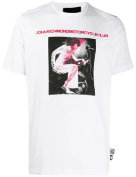 Rusiki T Shirt Med Fototryk by John Richmond