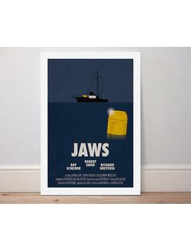 Movie Poster 'jaws' Colour Print by Etsy