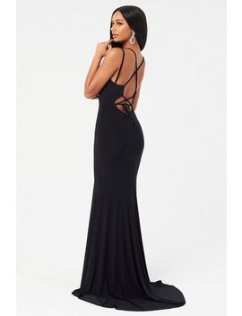 **Black Tie Back Dress By Club L by Topshop