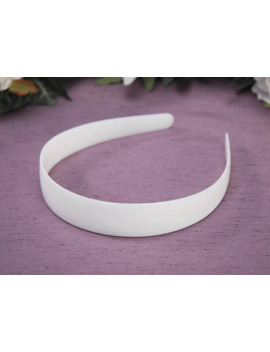Plastic Headband With No Teeth   White   25mm   1 Piece by Darice