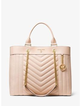 Susan Extra Large Quilted Leather Convertible Tote Bag by Michael Michael Kors