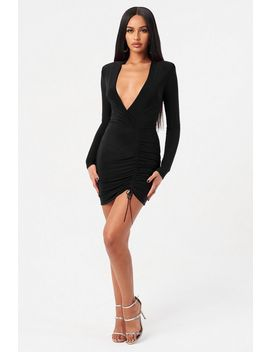 **Black Long Sleeve Dress By Club L by Topshop