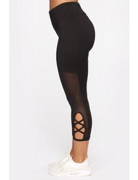Cross Me Ii Leggings   Black by Fashion Nova